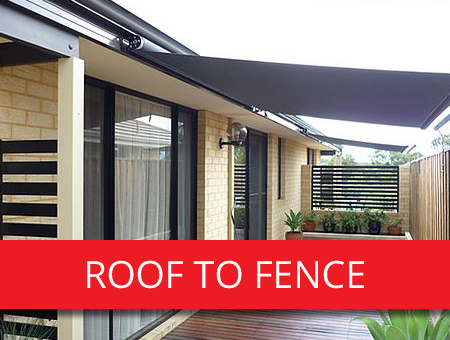 Roof To Fence Blinds